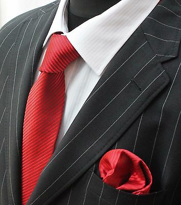 Tie Neck tie with Handkerchief Red