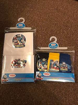 Baby Boy Thomas The Tank Engine Vests & Pants 18/24 Mth BNWT