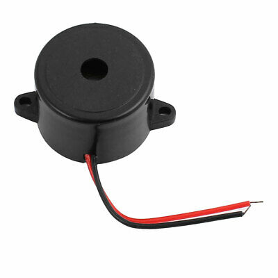 DC 12V 2-Wired Continuous Active Electronic Buzzer Alarm Black 23mmx16mm