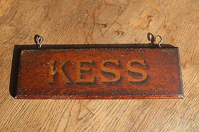 KESS, VICTORIAN 19th Century Hand Painted STABLE SIGN , Folkart naive
