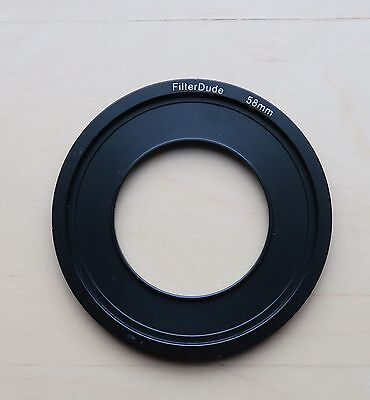 The Filter Dude 58mm Lee filter holder compatible metal filter adapter ring Used
