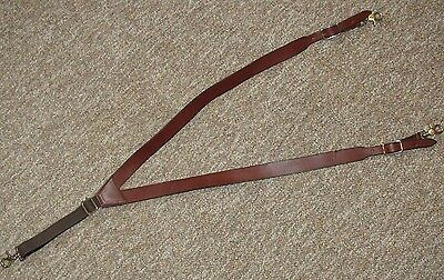 New Handmade Leather Men's Utility Suspenders Made in the USA