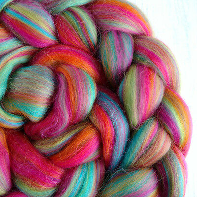 Blended Merino Wool Roving Wool Tops Club Tropicana Spinning Felting Dreads 100g