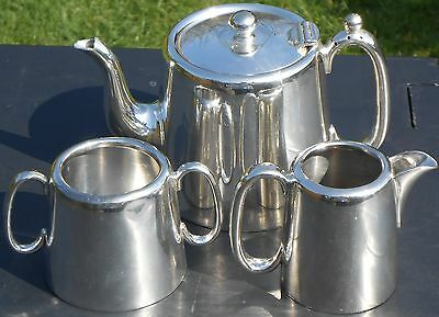 Vintage Hotel Ware Style Tea Set - Silver Plated - Cooper Bros