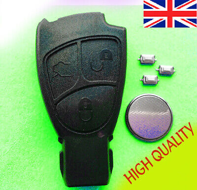 Mercedes 3 button Remote key case Fob SPRINTER C S E Class CLK SLK Repair Kit