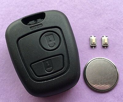 Peugeot 307 2 Button Remote Key Fob Case Shell Repair Refurbishment Kit