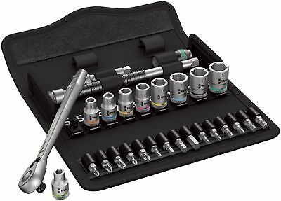 Wera 004018 Zyklop 8100 Ratchet Bit Socket Set of 28 Piece Metric 1/4in Drive