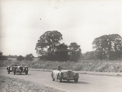 ALVIS CAR No.83 CAR REG No.ELL 477, FOLLOWED BY ANOTHER CAR PERIOD PHOTOGRAPH.