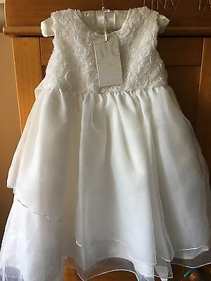 Heritage Occasion Christening/ Baptism Dress Ivory 18-24 Months