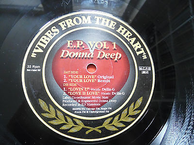 Donna Deep - Vibes From The Heart - Love Peace And Unity - Uk Speed Garage 12""
