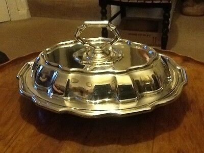 Vintage Silver Plate Serving Dish/Tureen With Lid
