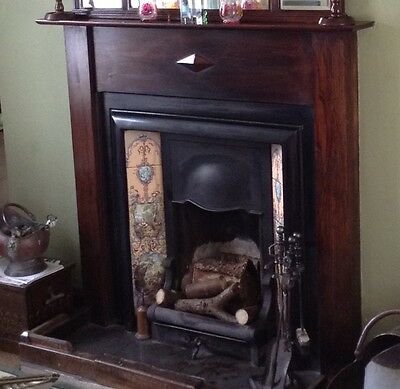 Original Victorian/Edwardian Fireplace with Oak Surround