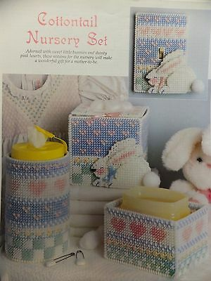 Cottontail Nursery Set Holders / Light Cover / Pattern(s) in Plastic Canvas
