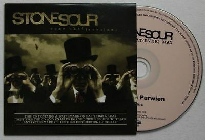 Stone Sour come What (Ever) May Rare Adv CD-Acetate 2006