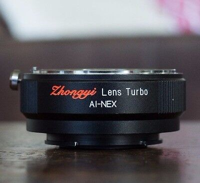 Zhongyi Lens Turbo Focal Reducer Booster Adapter Nikon AI to Sony E NEX; From US