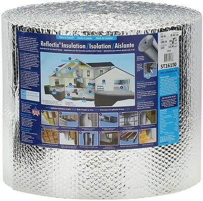 "Reflectix Insulation Bubble Foil Roll Double Radiant House Building 16"" x 100 ft"