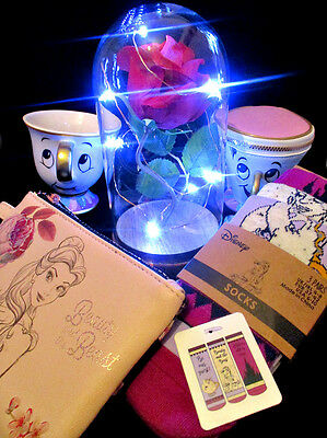 Beauty and The Beast Enchanted Rose, Chip Mug, Coin Purse, Socks