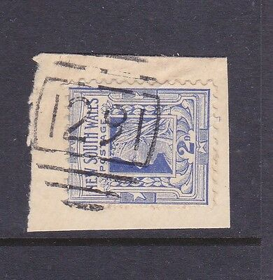 *NSW COLONIAL POSTMARKS.NUMERAL 1291 of LAWSON on 2d QV piece*