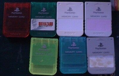 Sony Playstation 1MB Memory Cards PS1 Genuine x7 AUSTRALIAN SELLER.