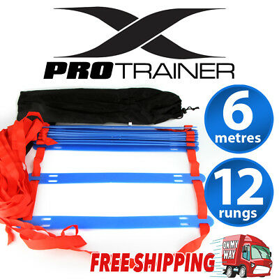 New Agility Speed Sport Training Ladder 6M - Soccer Fitness Boxing 12 Rungs Bag