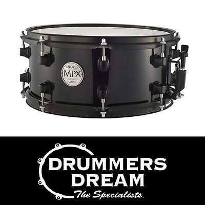 "MAPEX MPX 13"" x 6"" Maple Snare Drum Midnight Black Finish - BRAND NEW"