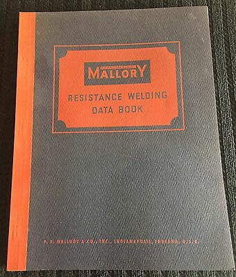 Vintage 1941 Mallory Resistance Welding Data Book Alloy Applications