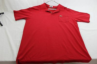 Lacoste pocket polo shirt red XL