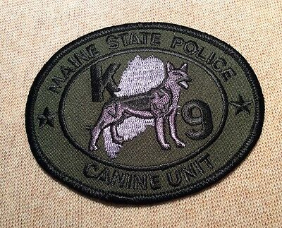 ME Maine State Police Canine Unit Patch (Olive)