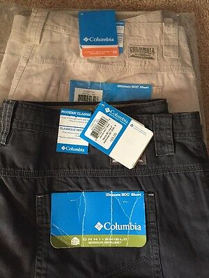"""NWT Lot of 2 Size 40""""w 9""""L : Men's Columbia Ultimate ROC shorts"""