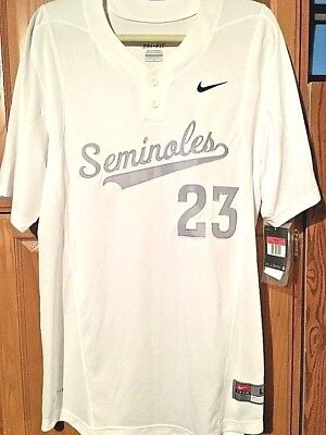 NWT NIKE Florida State Seminoles Baseball Youth Two Button Jersey M College NCAA