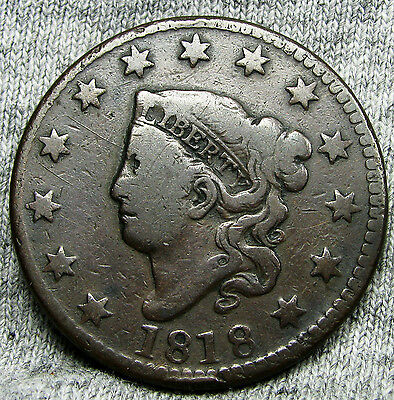 1818 Classic Head Large Cent --- TYPE COIN,NICE DETAILS --- #N165