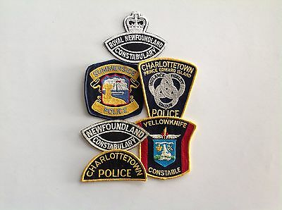 Vintage Canadian police shoulder patches 1970's/80's various