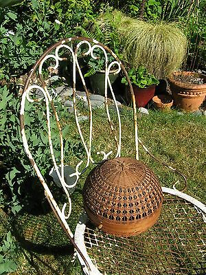 Round ASIAN Antique~Vintage Basket~Cricket~Bird Cage! Delicate Rattan Hand Made~