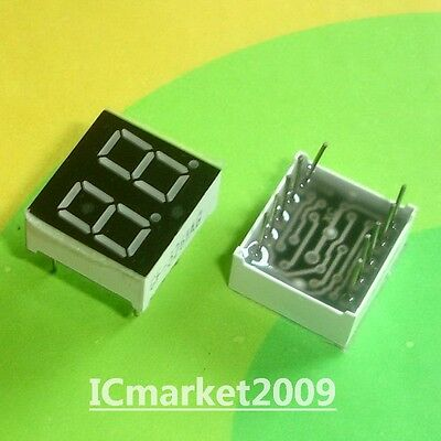 10 PCS 2 Digit 0.36 inch Green NUMERIC LED DISPLAY 7 SEG SEGMENT COMMON CATHODE