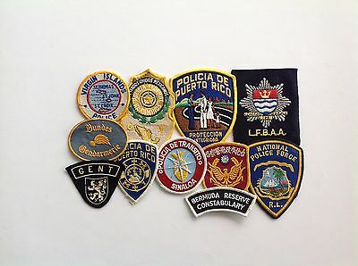 Vintage police shoulder patches 1970's/80's misc. countries