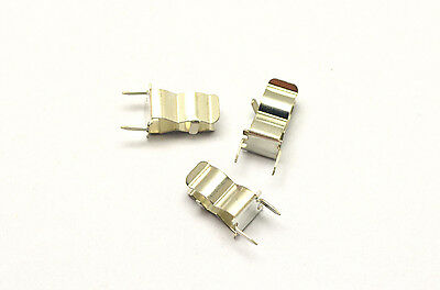 10pcs  5x20mm Fuse Holder Clips for PCB board mounting