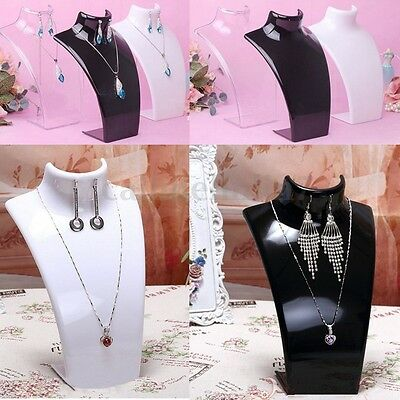 Mannequin Plastic Necklace Pendant Holder Earring Rack Stand Chain Display UK