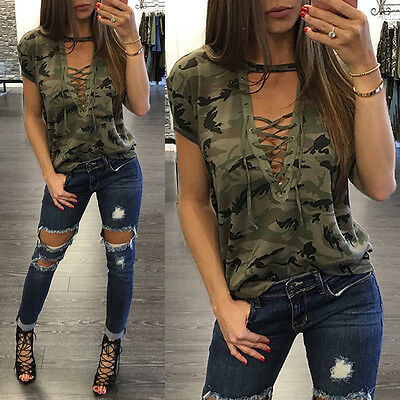 Fashion Women Summer Loose Top Short Sleeve Blouse Ladies Casual Tops T-Shirt #L