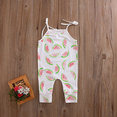 USA Baby Boy Girls Cotton Romper Jumpsuit Bodysuit Newborn Kids Clothes Outfit