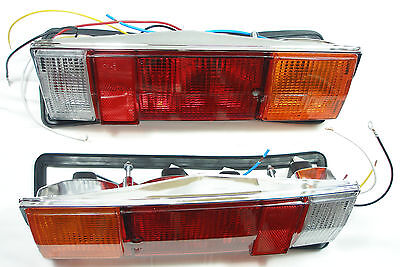 Fiat 124 Spider BS, CS, Abarth,  Satz neue Rückleuchten ; Set Taillamps 124 NEW