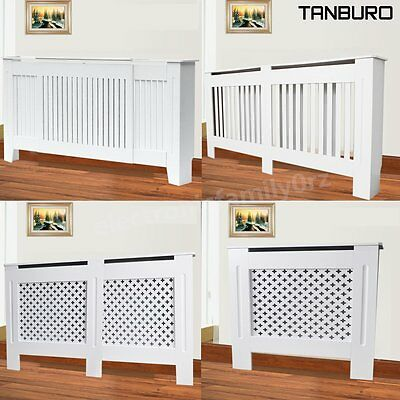 100% Premium Modern MDF Wood White Radiator Cover Wall Cabinet Grill Range Sizes