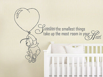 Winnie The Pooh Wall Decal Kids Quote Vinyl Sticker Nursery Decor Zx213