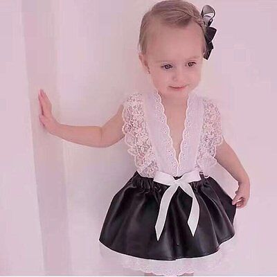 Flower Girls Lace Dress Kids Baby Princess Party Wedding Pageant Dresses Clothes
