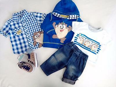 Bundle Baby Boys Clothes 0-3 Months ADORABLE Looney Tunes Baby TAZ Inc.NEW CUTE