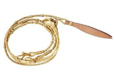 Western Rawhide Braided Romel Reins with Natural Rawhide Knots With Popper