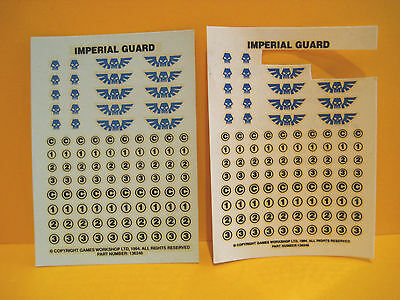 Warhammer 40k - Astra Militarum - Imperial Guard - Decals - Transfer Sheets