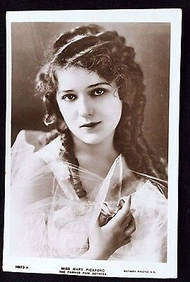 Nice Vintage Real Photo Postcard of Actress Miss Mary Pickford