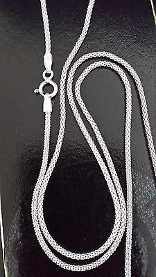 """New 925 Sterling Silver 18"""" - 20"""" Inch Popcorn Chain Necklace 1.5 mm Thick"""