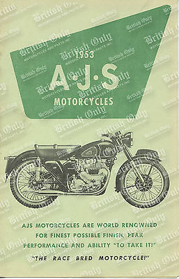 OEM USED - 1953 AJS Indian / 350's / 500's / 500 Twins - Pamphlet (20-40509)
