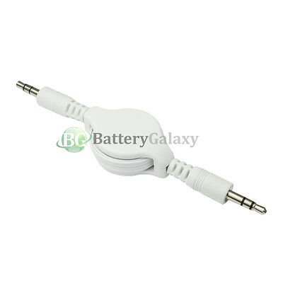 100 Retractable 3.5mm AUX Auxiliary Cable for Apple iPhone / Android Cell Phone